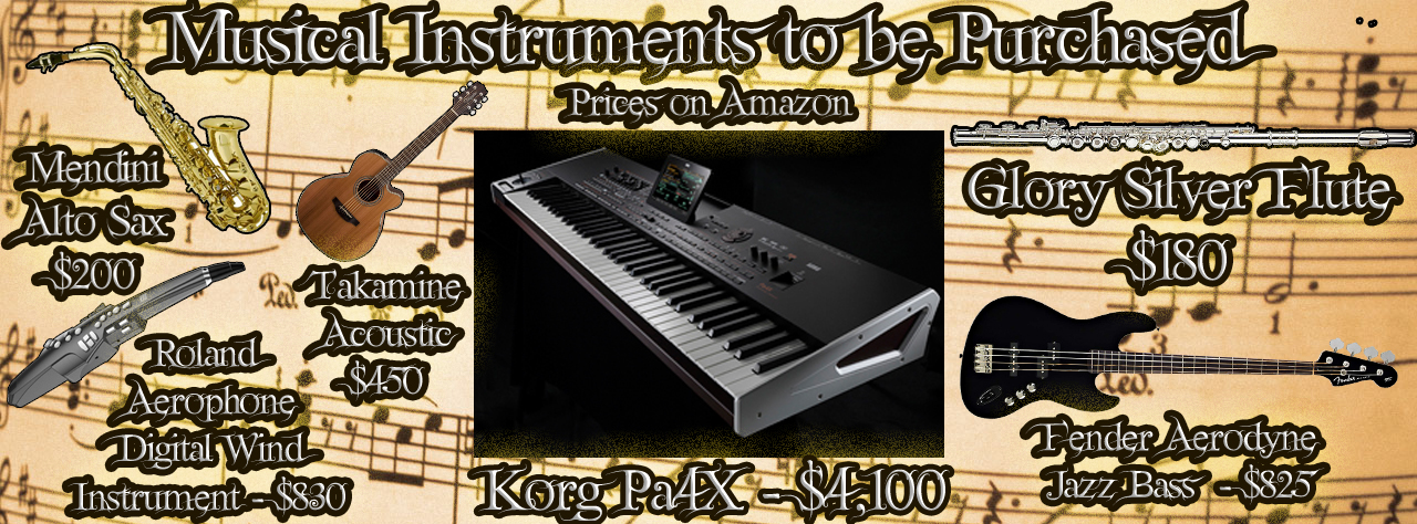 Instruments to be purchased