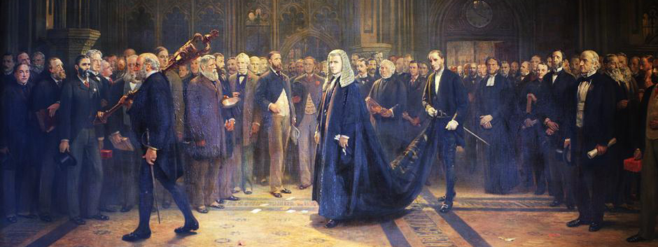 Speaker's Procession by Francis Wilfred Lawson (1884)